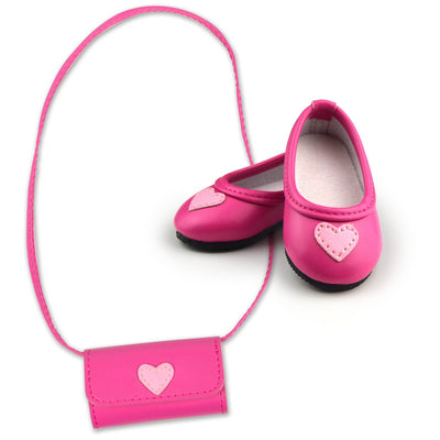 Heart's Content Shoes and Purse Set