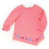 Artfully Inspired pink tunic long sleeve shirt with Inuit art hem fits all 18 inch dolls.