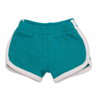 Sleepy Time PJs 2 piece pyjamas teal shorts with white trim fits all 18 inch dolls. Quality garment.