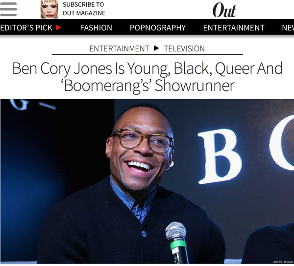 Star Clients: Ben Cory Jones Is Young, Black, Queer And 'Boomerang's' Showrunner