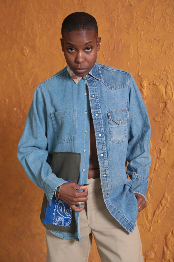 Twin Spirits Denim Shirt