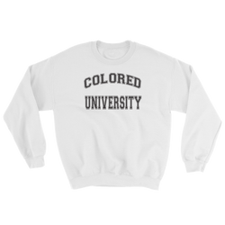 COLORED UNIVERSITY Crew Sweatshirt