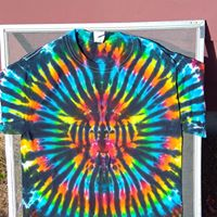 Custom Tie Dye Tee Multicolored