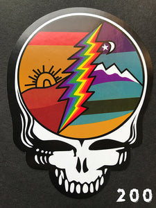 Grateful Dead Steal Your Face Day & Night Sticker