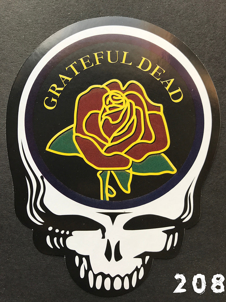 Grateful Dead Steal Your Face GD Rose Sticker
