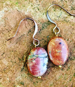 Red Cherry Creek Jasper Earrings