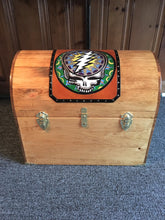 Handcrafted Pine Chest with Leather Artwork