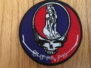 Girl Steal Your Face Patch