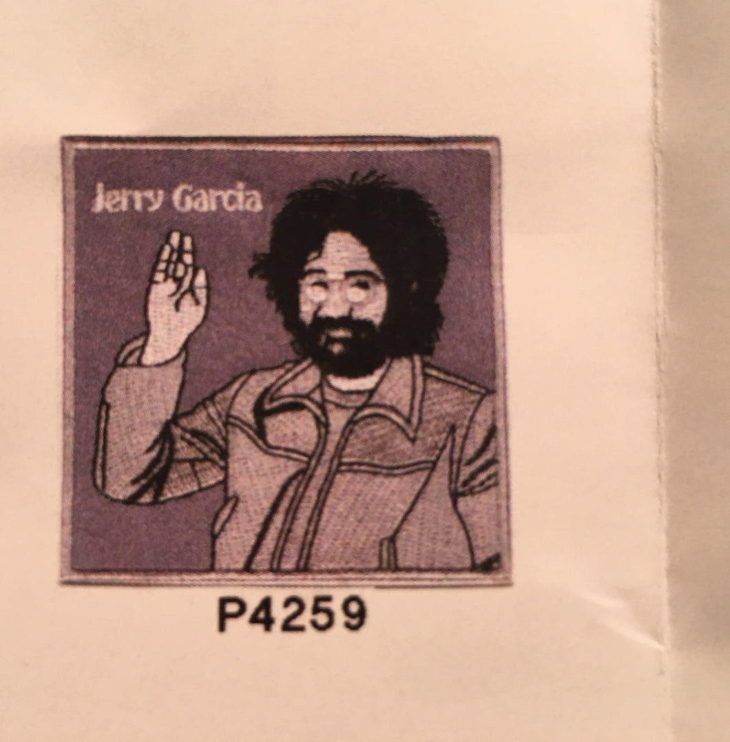 Jerry Garcia Black and White Pin