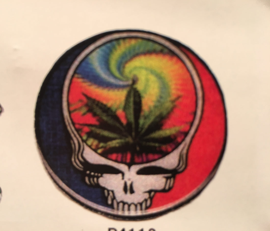 Grateful Dead Stealie Flower Pin