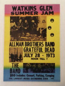 Watkins Glen Summer Jam Postcard