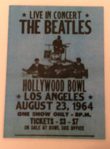 The Beatles Hollywood Bowl Postcard