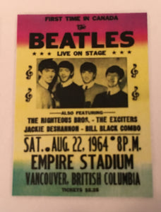 The Beatles Empire Stadium Postcard