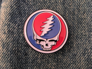 Steal Your Face Circle Pin