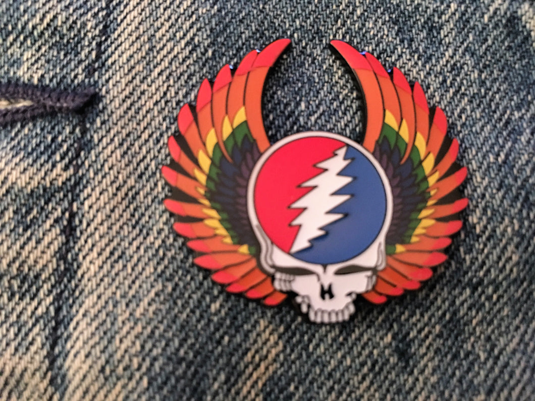 Steal Your Face Wings Pin