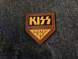 Kiss Army Pin