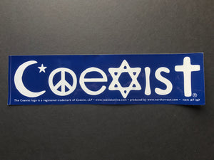 Large Blue Coexist Sticker