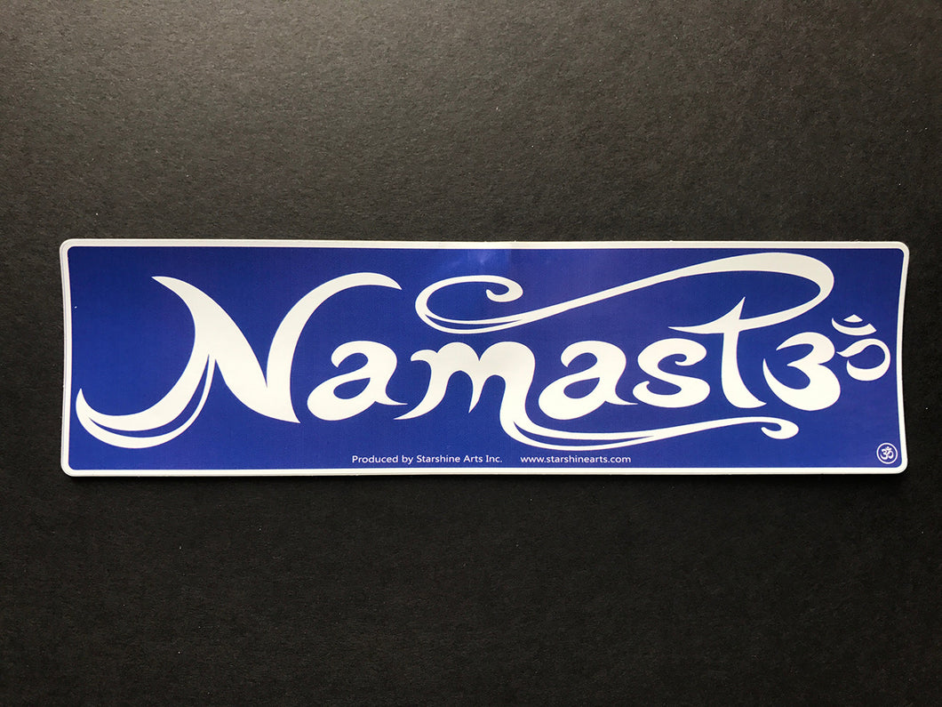 Namaste Blue Sticker
