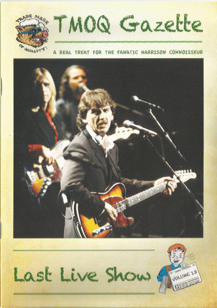 George Harrison TMOQ Last Live Show 2 CD Set