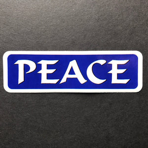 Small Blue Peace Sticker