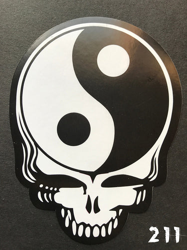 Grateful Dead Steal Your Face Ying-Yang Sticker