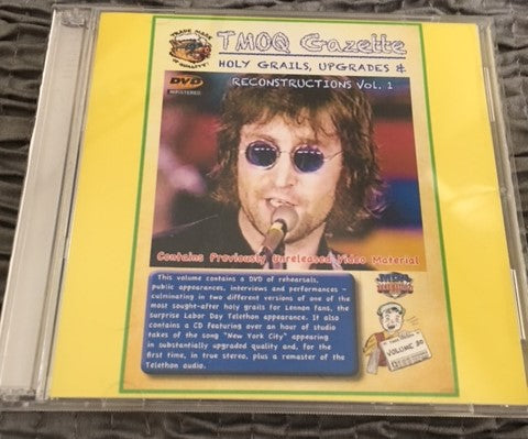 John Lennon TMOQ Holy Grails, Upgrades, and Reconstructions Vol 1 2 Disk DVD