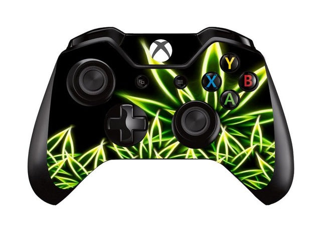 Weed vinyl skin sticker xbox one controller decal gamepad cover