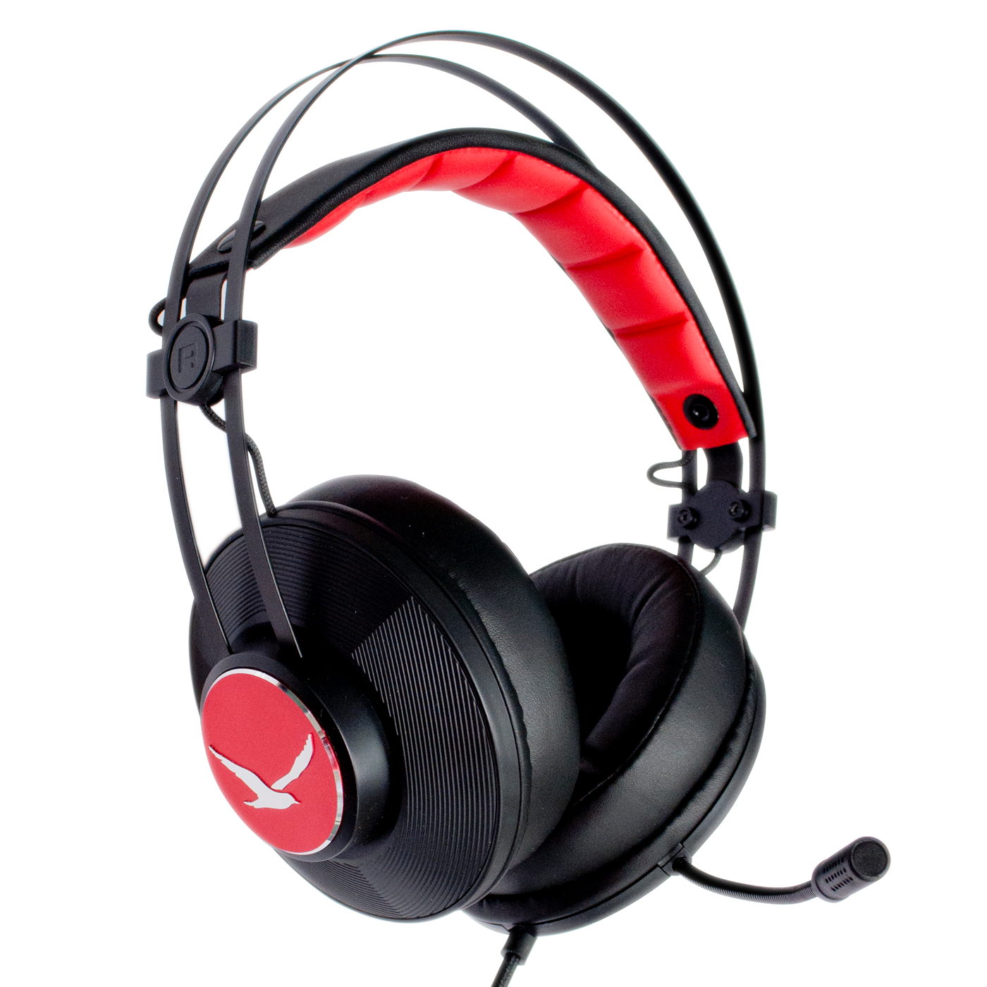 Digifast Apollo X2 headset with noise-canceling microphone angled view reversed