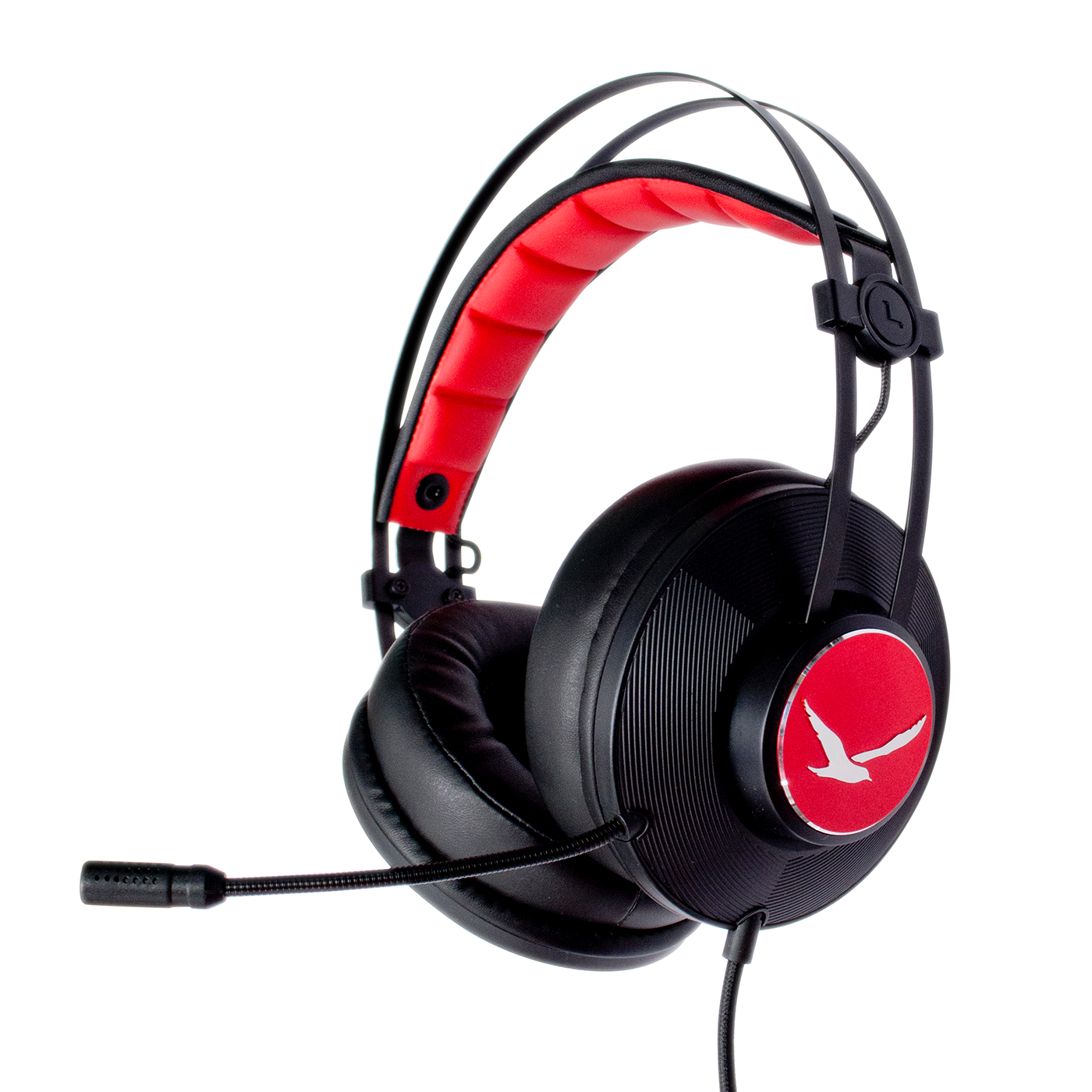 Digifast Apollo X2 headset with noise-canceling microphone angled view