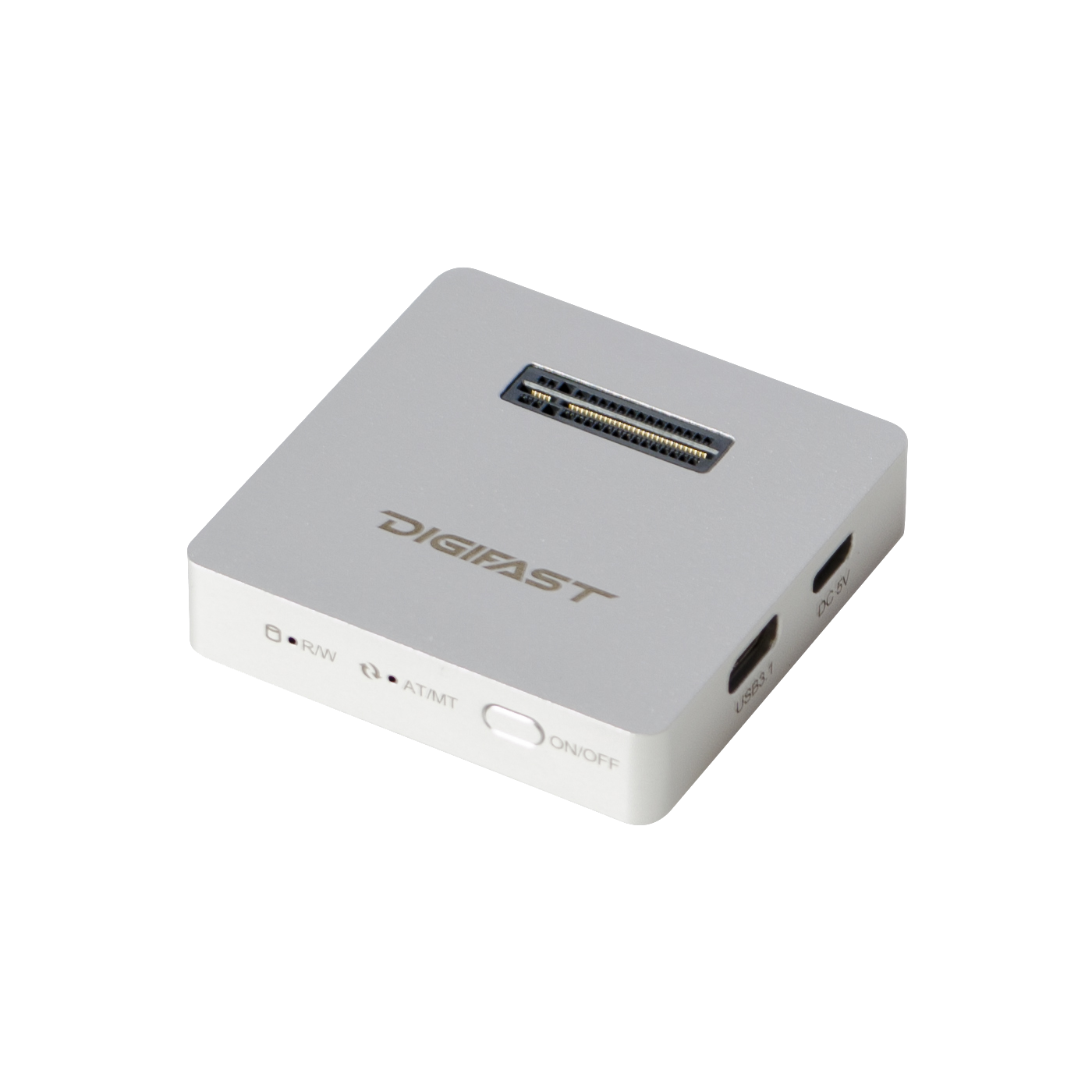 Digifast M.2 NVMe SSD Docking Base, USB3.2 GEN2 Type-C (10 Gbps), Lightweight, Portable Design - Silver