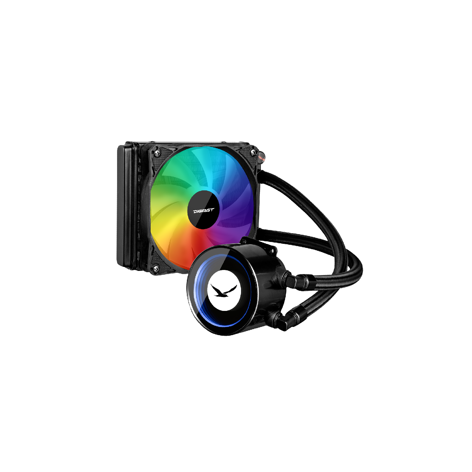 CPU Cooler - Digifast AIO Notos Liquid CPU Cooler N12 Sync AMD Intel