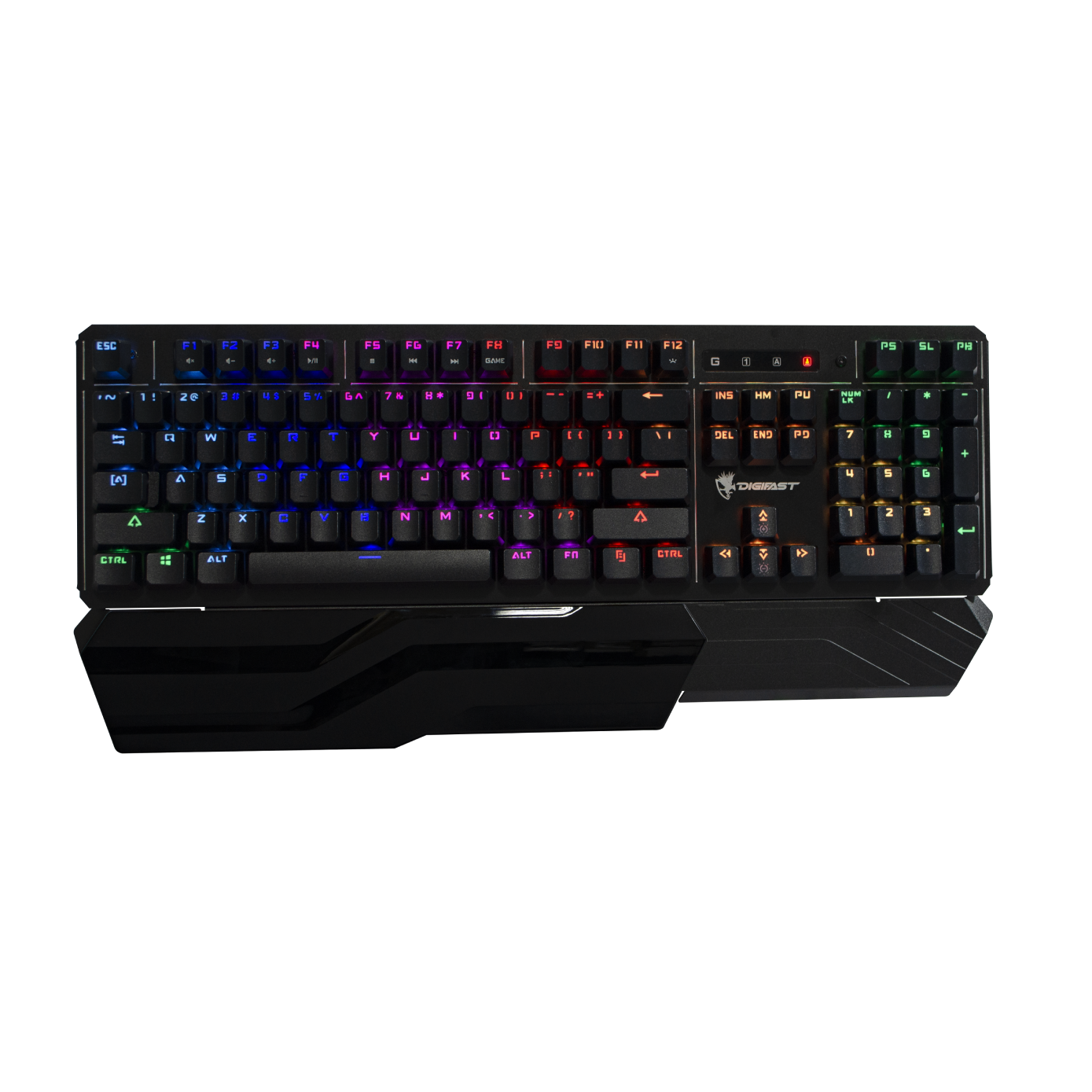 Gaming Keyboard - Digifast Lighning Mechanical RGB Gaming Keyboard With Wrist Rest LK42