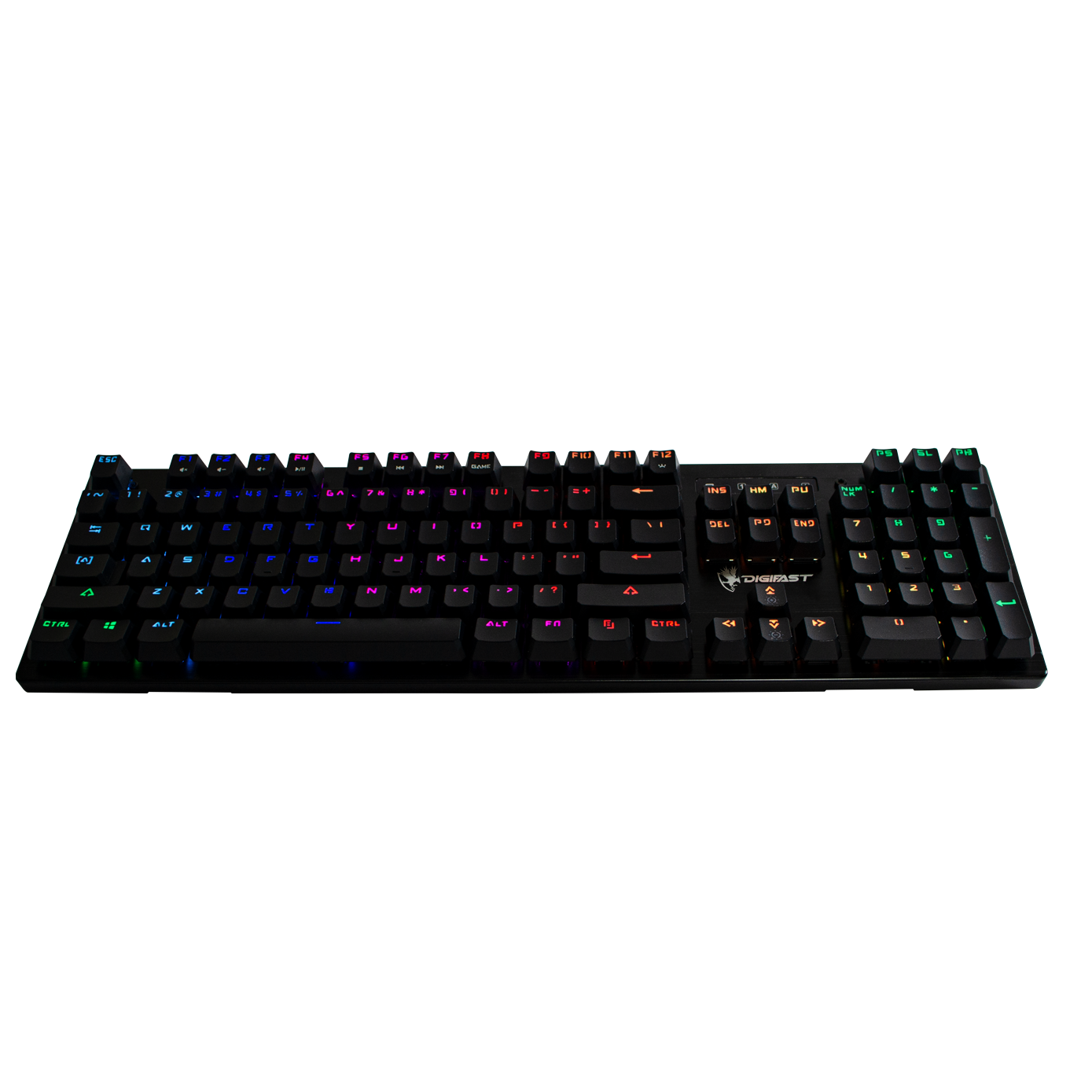 Digifast Lightning Mechanical RGB Gaming Keyboard LK32 diagonal view