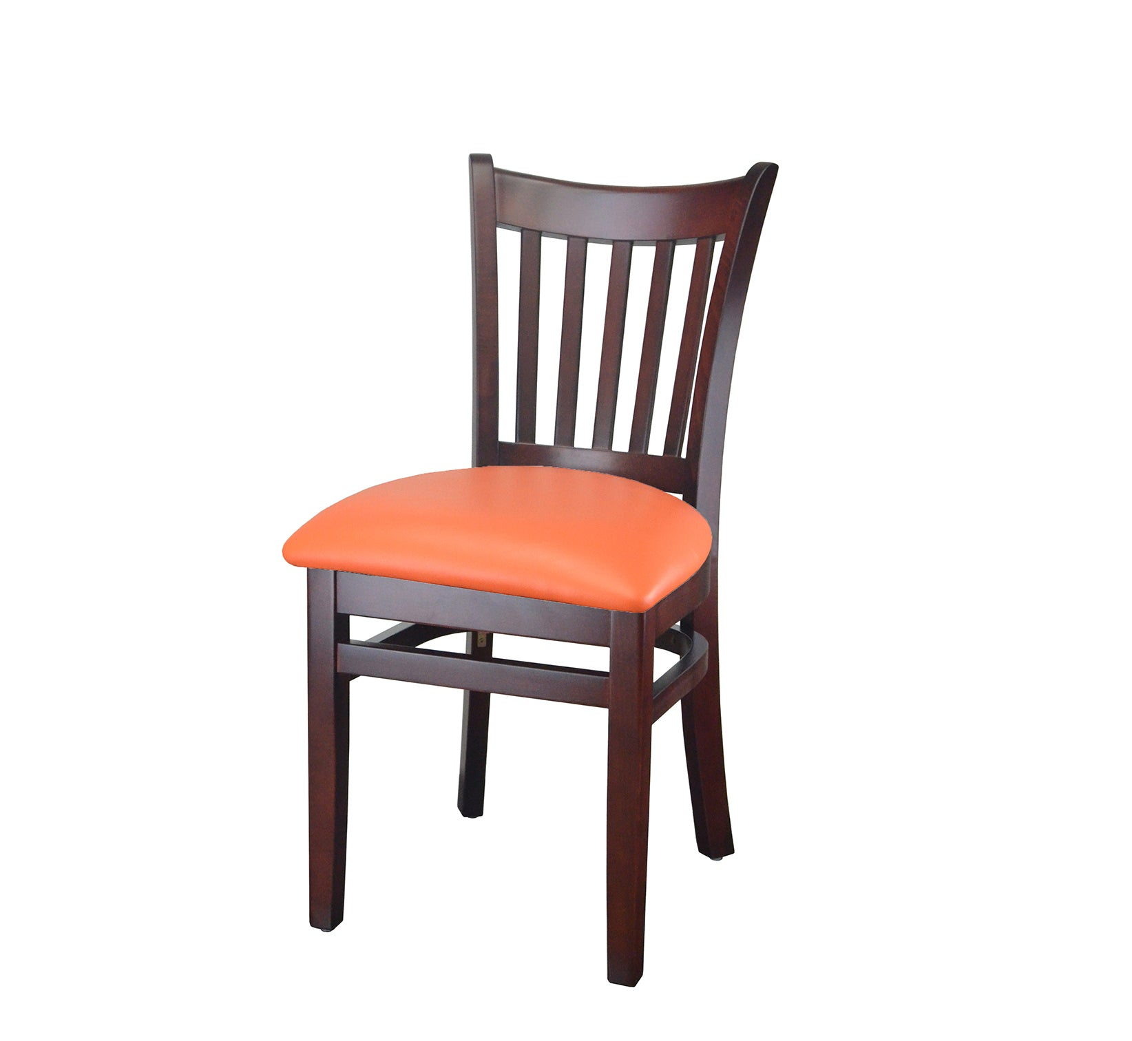 242 D 01 Mahogany Finish Vertical Slat Dining Chair