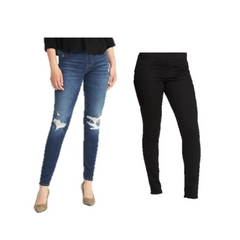 Old Navy Denim and Black Jeggings
