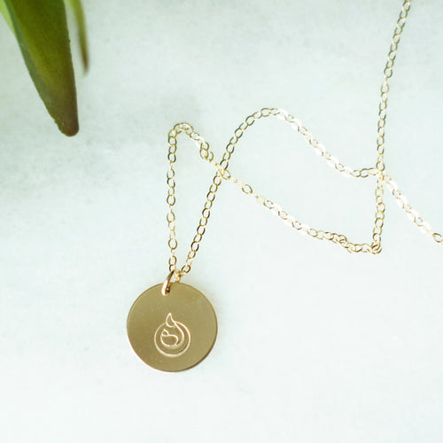 14k Gold filled disc breastfeeding necklace