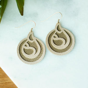 faux leather breastfeeding earrings