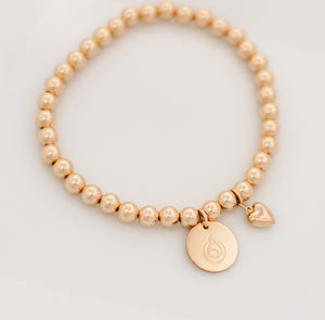 Breastfeeding Love Gold Beaded Bracelet