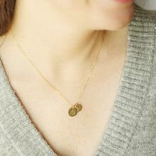 Breastfeeding Necklace with Child Initials