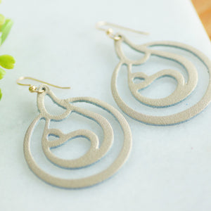 Gold Leather Breastfeeding Earrings