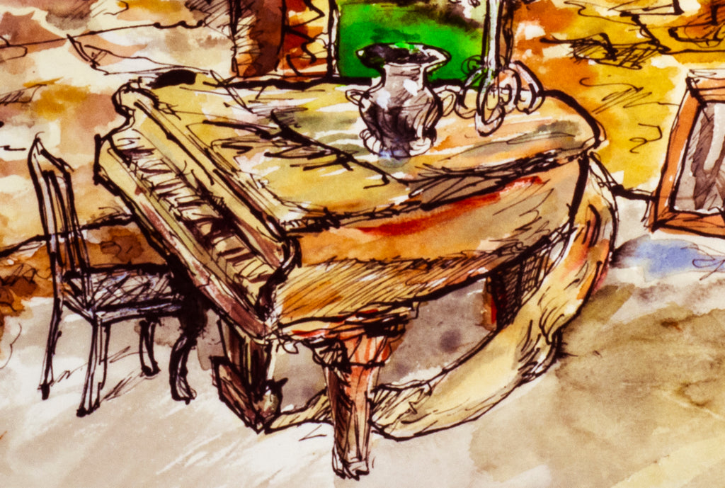 Piano Past It's Prime (available original painting)