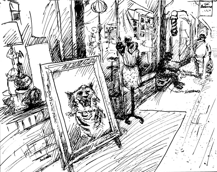 Tiger For Sale (available original Pen & ink drawing)