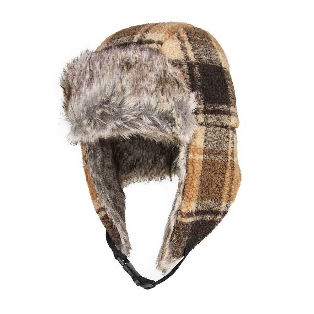 Berber Plaid Bomber Hat