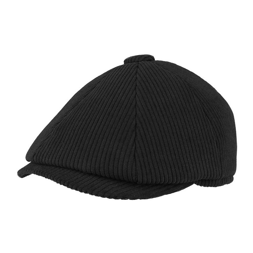 Corduroy Newsboy Cap with Warmer Flap