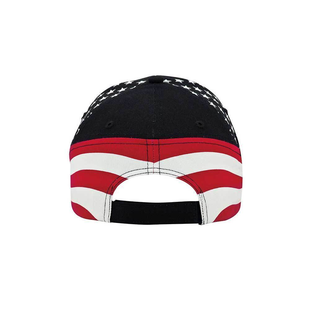 6 Panel (Stru) Cotton Twill Flag Cap
