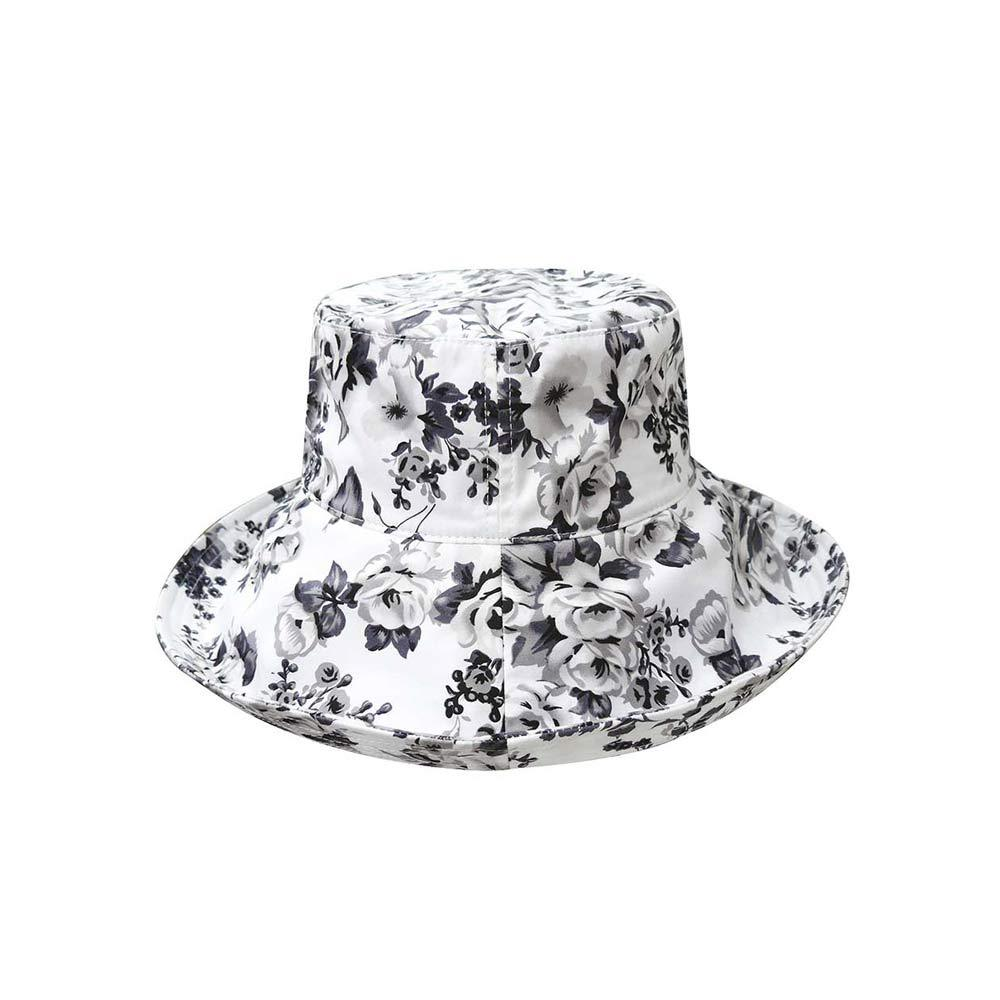 Women's Wide Brim Floral Bucket Hat