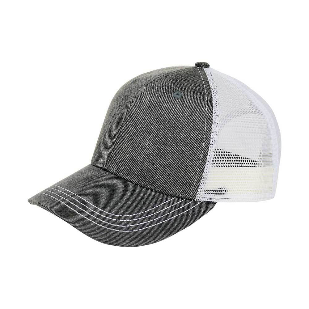 Customized Swoosh and Tail Deluxe Waxed Cotton Trucker Cap