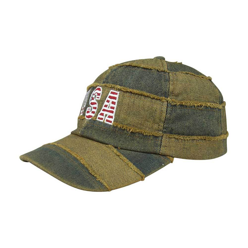 Unstructured Washed USA Denim Cap
