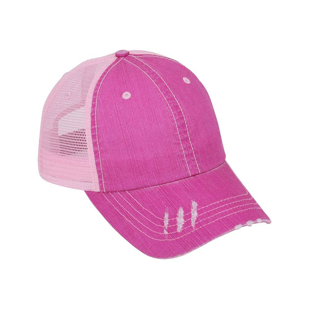 Customized Washed Herringbone Cotton Twill Trucker Cap