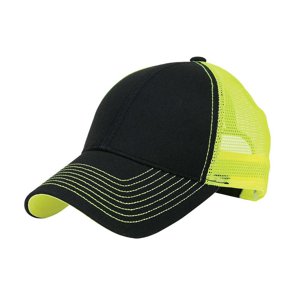 Customized Neon Heavy Trucker Mesh Cap